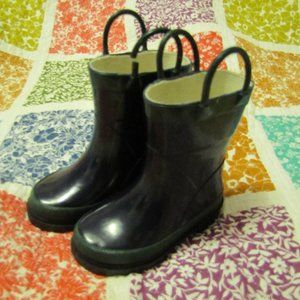 Steel Shank Dark Navy Rain baby Toddle Boots sz. 5